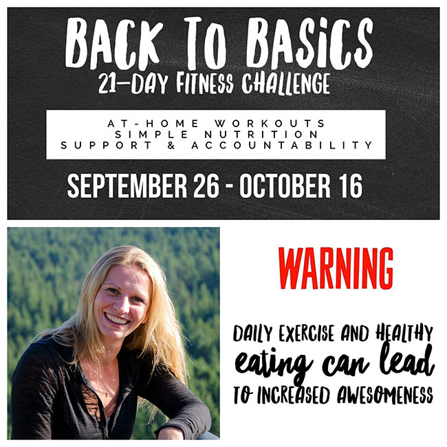Back to Basics 21 Day Fitness Challenge