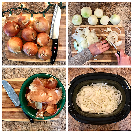 Preparing French Onion Soup